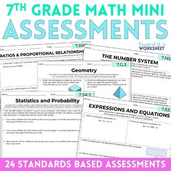 7th Grade Math Common Core Mini Assessments