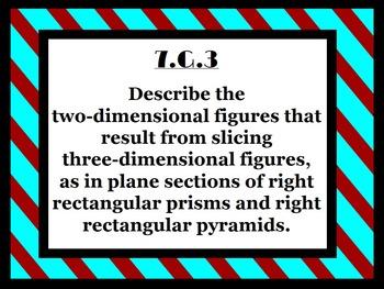 7th Grade Math Common Core Posters (Stripes)