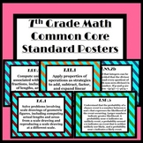 7th Grade Math Common Core Posters (Stripes)