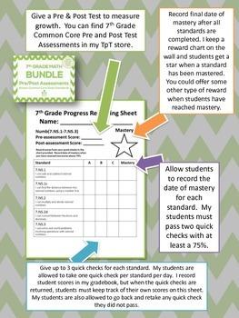 7th Grade Math Common Core Quick Check Mini Assessments (7.SP.5 - 7.SP.8)