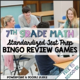 7th Grade Math Review Games Bundle   Distance Learning