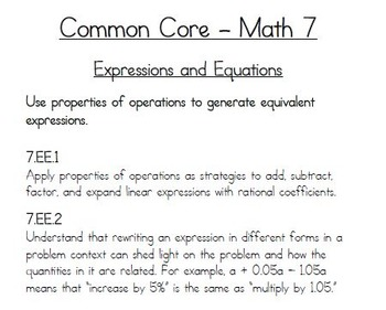 7th Grade Math Common Core Simplifying Rational