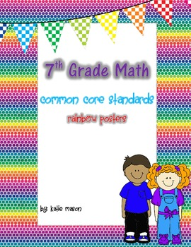 7th Grade Math Common Core Standards Posters ** Rainbow