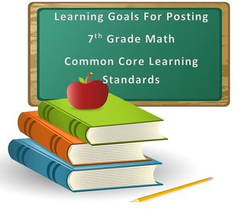 7th Grade Math Common Core Standards in Student Friendly Learning Goals