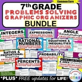 7th Grade Math  WORD PROBLEMS Graphic Organizer BUNDLE End of Year