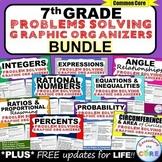 7th Grade Math  WORD PROBLEMS Graphic Organizer BUNDLE Back to School