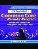 7th Grade Math Common Core Warm-Up Program