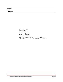 7th Grade Math Comprehensive Test