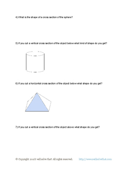 7th Grade Math: Cross sections of 3-D Objects 7.G.A.3