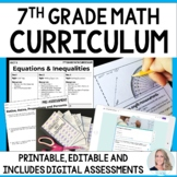 7th Grade Math Curriculum : A Completely Editable Curriculum