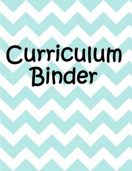 7th Grade Math - Curriculum Binder Title Page - Common Core
