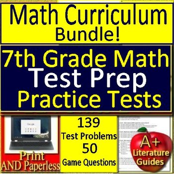7th Grade Math Curriculum Bundle – 7th Grade Test Prep Practice Tests CCSS