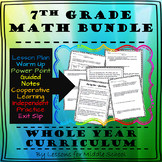 7th Grade Math Bundle – Year Long Curriculum, 2,300+ Pages