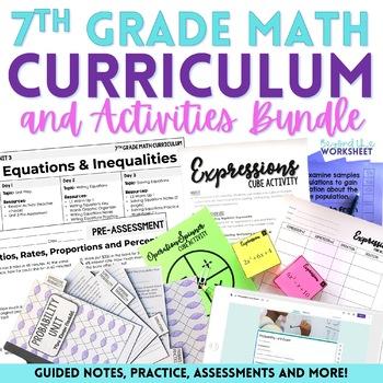 7th Grade Math Curriculum and Activities
