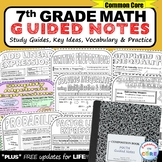 7th Grade Math GUIDED NOTES Bundle - Interactive Math Notebooks Back to School