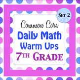 7th Grade Math Daily Warm ups w/ Key - Set 2