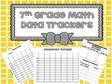 7th Grade Math Data Trackers