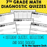 7th Grade Math Diagnostic Quizzes
