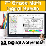 7th Grade Math Digital Activity Bundle!