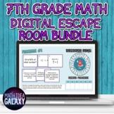 7th Grade Math Digital Escape Room Bundle