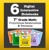 7th Grade Math - Digital Interactive Notebook BUNDLE! (Pro