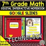 7th Grade Math Digital Interactive Notebook Distance Learn