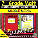 7th Grade Math Digital Interactive Notebook Distance Learn