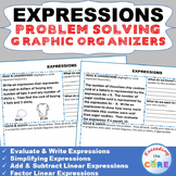 EXPRESSIONS Math Word Problems with Graphic Organizer