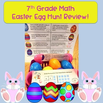 7th Grade Math Easter Egg Hunt Review