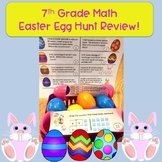 7th Grade Math Easter Egg Hunt Review