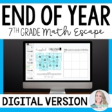 7th Grade Math End of Year Digital Escape Room Activity - For Distance Learning