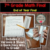 7th Grade Math End of Year Final