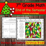 7th Grade Math End of the Semester Coloring Worksheet