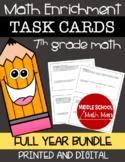 7th Grade Math Enrichment Task Cards Bundle