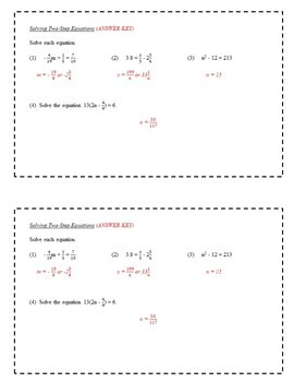 7th Grade Math Enrichment Task Cards - Equations and Inequalities