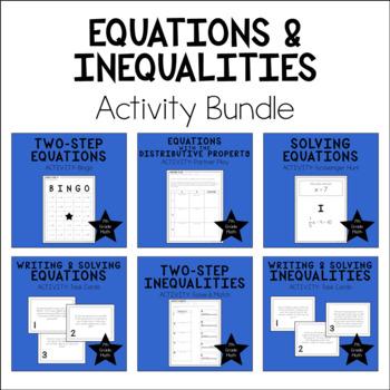 7th Grade Math Equations & Inequalities Activity Bundle