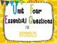 7th Grade Math Essential Questions Giraffe Print *Common C