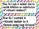 7th Grade Math Essential Questions Rainbow Stripes *Common Core Aligned*