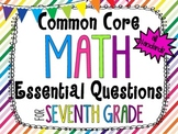 7th Grade Math Essential Questions Rainbow Stripes *Common