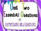 7th Grade Math Essential Questions Zebra Print *Common Cor