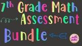 7th Grd Math Assessment Bundle (9 exams,7 study guides,7 J