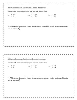 7th Grade Math Rational Numbers Exit Slips