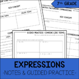 7th Grade Math Expressions Notes & Guided Practice