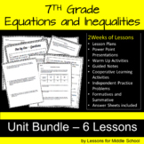 7th Grade Math – Expressions, Equations and Inequalities Unit