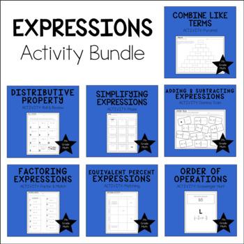 7th Grade Math Expressions - Activity Bundle