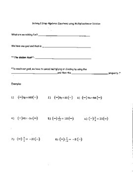 7th Grade Math Expressions and Equations Notes and Key Module 2 Topic C