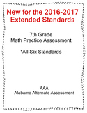 7th Grade Math Extended Standards Practice Test Alabama Alternate Assessment