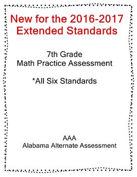 7th Grade Math Extended Standards Practice Test Alabama Alternate Assessment
