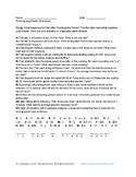 7th Grade Math: FREE Thanksgiving Themed Chet's Riddle Worksheet