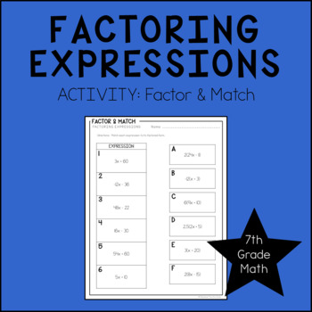 7th Grade Math Factoring Expressions
